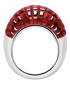 "Ruby Glitter! Art Deco ""Ball"" ring 1935 by Van Cleef & Arpels - mystery set."