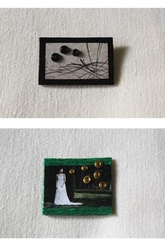 "Two brooches: ""Calm"" and ""Dreams"" from La chica de verde."