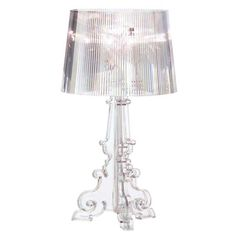 Bourgie table lamp, clear, by Kartell.