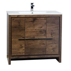 CBI Enna 36 Inch Rosewood Modern Bathroom Vanity