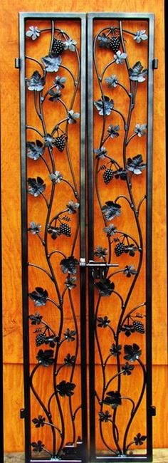 Grapevine Iron Wine Cellar Double Door - Handcrafted in the USA - many sizes to choose from - custom sizing also
