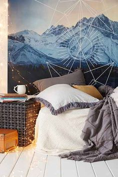 4040 Locust Geo Landscape Wall Mural - Urban Outfitters