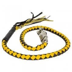 Yellow Black Get back whips leather made biker
