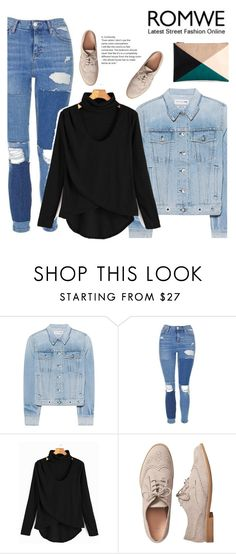 """""""Romwe"""" by mell-2405 ❤ liked on Polyvore featuring rag & bone, Topshop, Gap and Sole Society"""