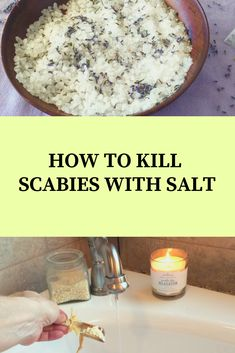 Mites On Humans, Health Remedies, Home Remedies, Salt Water Bath, Wild Lettuce, Healthy Tips, Healthy Skin, Water Recipes, Coffee Recipes