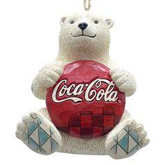 Enesco Coca-Cola by Jim Shore 4059722 Coke Polar Bear with Coke Logo Hanging Ornament Vintage Coca Cola, Hanging Ornaments, Holiday Ornaments, Christmas Decorations, Coke Drink, Cocoa Cola, Coca Cola Polar Bear, Coca Cola Christmas, Merry Christmas And Happy New Year