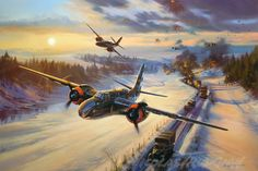 Raising Havoc in the Ardennes, by Nicolas Trudgian (Douglas A-20 Havoc)