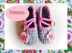 Best Wishes Crochet Slippers Pattern by wonderfulhands on Etsy, $4.50