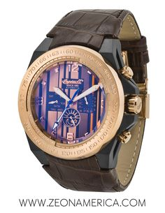 Check out the awesome Pittsburgh by Ingersoll Watches USA! This heavily detailed engraved bezel with a brown dial that includes multiple sub dials as well as sleek leather straps to add class to your wardrobe! Watches Usa, Fashion Watches, Ingersoll Watches, Wood Watch, Pittsburgh, Brown, Awesome, Check, Leather