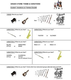 Great worksheets for analyzing form with specific songs #elementarymusic #form