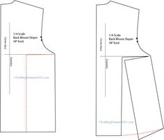 Drafting the flared/swing top - back