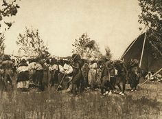 Buffalo society, animal dance - Cheyenne (The North American Indian, v. XIX. Norwood, MA, The Plimpton Press,  1930) by Edward Sheriff Curtis from University of Southern California Libraries