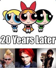 Jared Leto, Gerard Way, Billie Joe - hahaha! I live the Billie one XD