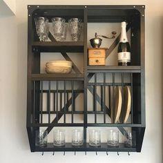 KINGFISHER HOUSE - Kitchenstand - Køkkenreol - Tallerkenrække - Model 3 - Sort