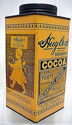 antique cocoa tins - Google Search