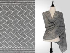 Xavier Rectangular Shawl pattern by Steve Rousseau Crochet Shawls And Wraps, Knitted Shawls, Knitted Blankets, Crochet Scarves, Crochet Woman, Knit Or Crochet, Baby Knitting Patterns, Knitting Designs, Blanket Shawl
