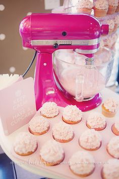 Nothing beats a KitchenAid! And who wouldn't love a hot pink one?!