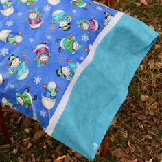 WINTER SNOWMEN Standard Pillowcase for boy or girl by tinystitches, $18.50  #bedding #holiday