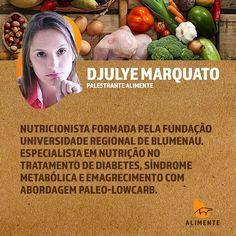 """#Repost @temcacau with @repostapp  Nem preciso dizer o quanto amo essa Djulye!  . . Regram @eventoalimente O evento ALIMENTE tem um orgulho imenso de ter essa nutri com a gente!  Conheça a história da nossa querida Djulye! . . .  Nutricionista Djulye Marquato - trabalha com abordagem low carb baseada em comida de verdade e atua em São Paulo/SP e Blumenau/SC. . . """"Antes de se formar o livro """"Você precisa comer melhor"""" de David Ludwig foi o que a fez pensar """"fora da caixa"""" foi o que a fez…"""