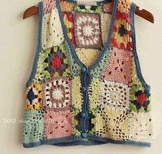 Knitted Boys and Girls Baby Sweater, Vest Cardigan Patterns - Knitting, Crochet Love Crochet Bolero, Freeform Crochet, Crochet Cardigan, Free Crochet, Crochet Baby, Knit Crochet, Crochet Tops, Gilet Kimono, Cardigan Pattern