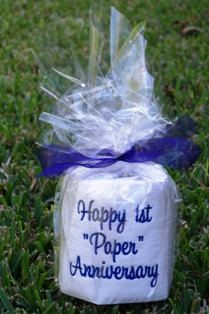 First Anniversary (Paper) Toilet Paper Roll