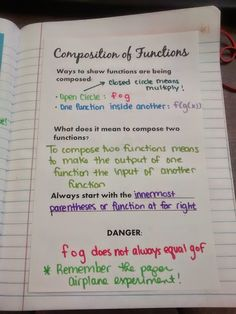 Composition of Functions Foldable