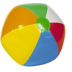 Inflatable Beach Balls - a big item that can be shrunk down to fit more stuff!