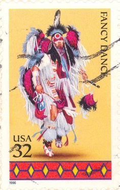 US Stamp - American Indian Dance Fancy Dance