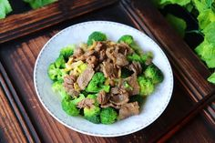 Fried beef and broccoli | Miss Chinese Food Fried Broccoli, Broccoli Beef, Healthy Chinese Recipes, Fried Beef, Pepper Powder, Serving Plates, Chinese Food, Stir Fry, Food Print