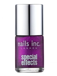 Nails Inc - Cracker Top Coat - The City (Show Stopping Purple)