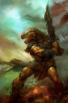 Dragonborn swordmaster