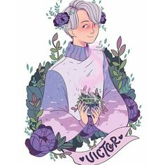 Yuri and victor in matching cloudy sky sweaters with a surrounding bunch of lush plants! Amazing Drawings, Amazing Art, Art Drawings, Pretty Art, Cute Art, Character Art, Character Design, Witch Drawing, Witch Art
