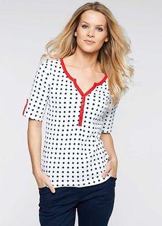 Pattern Henley T-Shirt