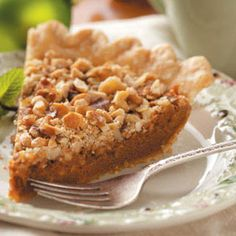 Sweet and salty and scrumptious! Caramel Nut Pie recipe from Taste of Home.