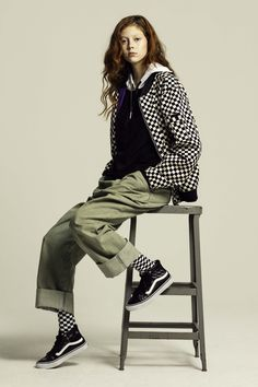 Natalie Westling serving up a lesson on how to wear checkerboard.