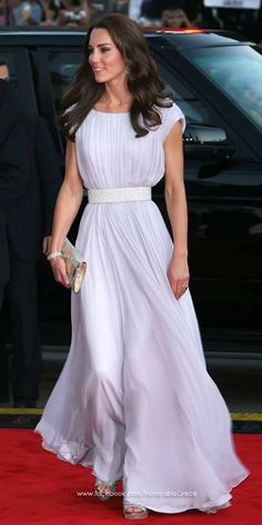Pure Grecian Elegance from Alexander McQueen for Kate Middleton.