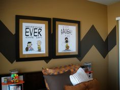 "room decor charlie brown theme | ... room decorated in a ""Peanuts"" theme? And I love the dining room chairs"