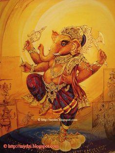 28 Ideas Tattoo Elephant Abstract Canvases For 2019 Shiva Art, Ganesha Art, Om Namah Shivaya, Ganesh Lord, Sri Ganesh, Lord Shiva, Hindu Deities, Hinduism, Lord Ganesha Paintings
