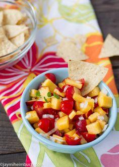 Peach and tomato salsa [Vegan] : TreeHugger