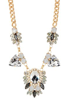 Mirror Crystal Medallion Necklace by t+j Designs on @HauteLook