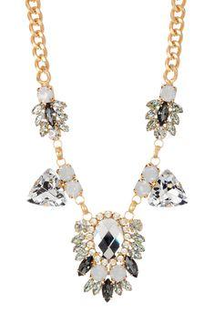 Mirror Crystal Medallion Necklace
