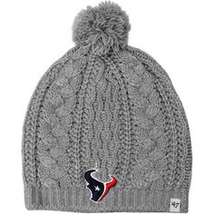 47 Brand Houston Texans Ladies Kiowa Knit Hat - Gray Nfl Gear 5babb82fa