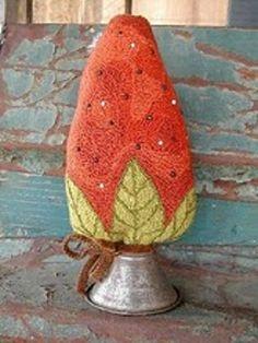 Punch Needle PATTERN - Strawberry Make-Do    notforgottenfarm   needlepunch. $8.00, via Etsy.