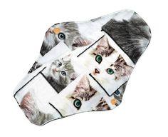 Cute cats  reusable, washable night cloth pad, mama pad, menstrual pads