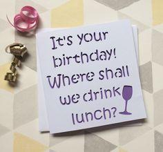 Funny birthday card rude card rude birthday card friend