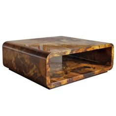 Lacquered Parchment Coffee Table by Karl Springer, USA, 1970s | From a unique collection of antique and modern coffee and cocktail tables at http://www.1stdibs.com/furniture/tables/coffee-tables-cocktail-tables/