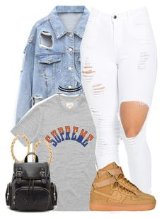 """""""Untitled #983"""" by trinsowavy ❤ liked on Polyvore featuring Nike air force, ASOS, Charlotte Russe and Forever 21"""