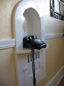 A niche for an old rotary phone.