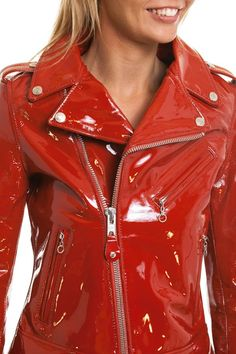 Blouson Femme Schott LCW1601E RED - Cuir-city.com