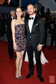 Michael Fassbender  and Marion Cotillard at the Macbeth premiere at Cannes 2015.
